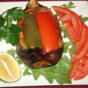 Imam Bayildi-Stuffed Eggplant